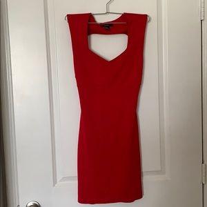 Red mini crossed back dress